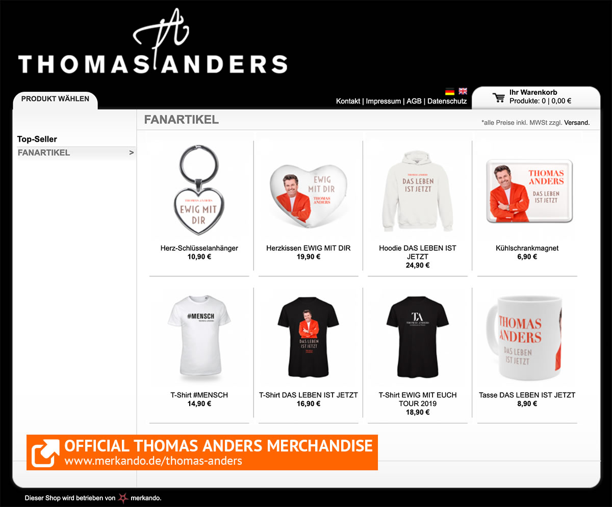 Thomas Anders Fanshop 2019