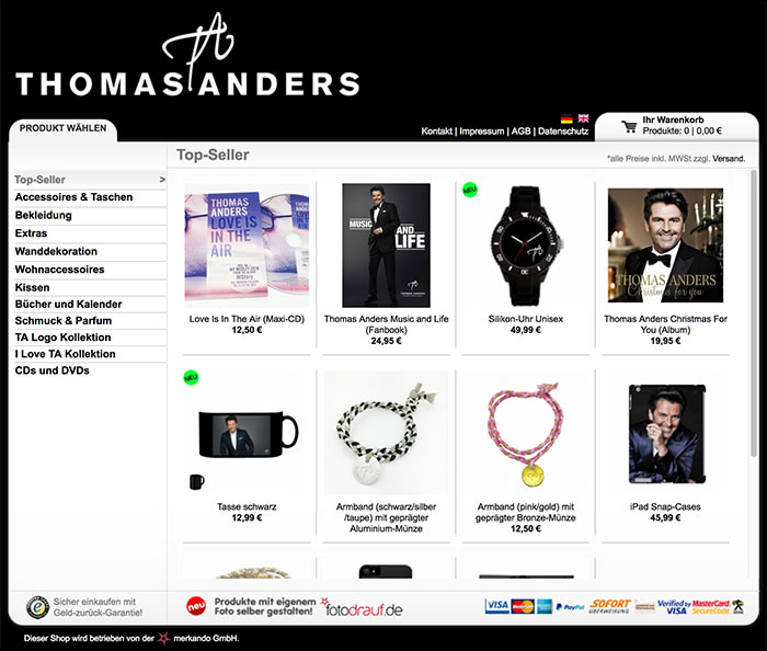 Thomas Anders Merkando Shop