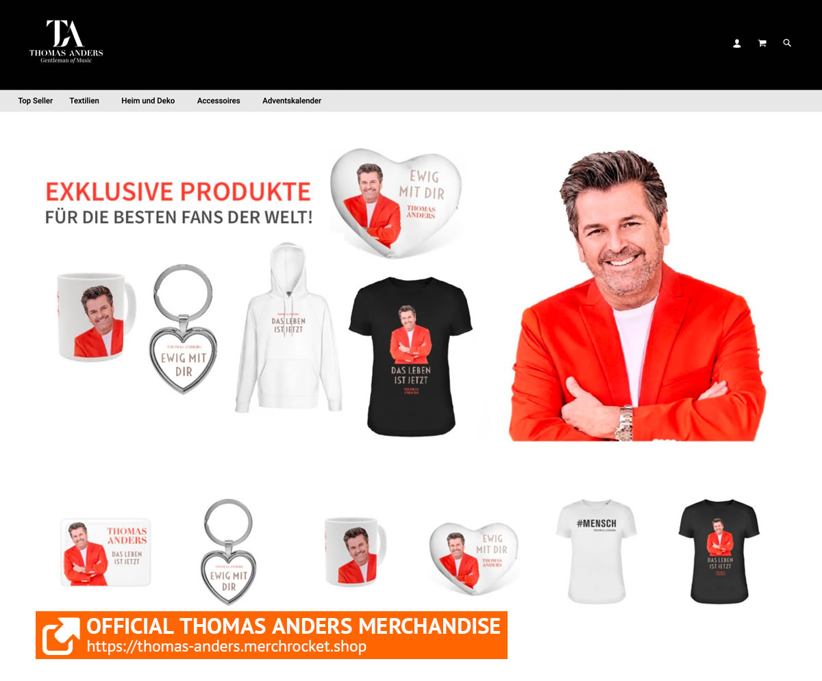 Thomas Anders Shop   Exclusive Products