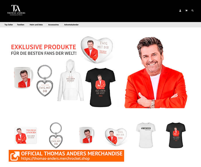 Thomas Anders Shop | Exclusive Products